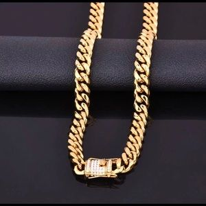 Other - New 18 k yellow gold Cuban necklace only